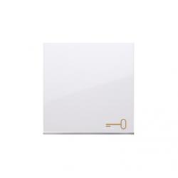 Klawisz pojedynczy z piktogramem klucza do łączników i przycisków biały