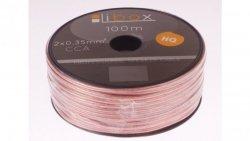 Przewód głośnikowy CCA 2x0,35 OFC LB0004 LIBOX /100m/