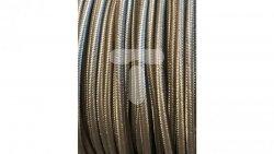 Kolorowy przewód mieszkaniowy H03VV-F (OMY) 3G 0,75 żo w oplocie tekstylnym jednobarwny stare srebro PPJBSSNN07 /bębnowy/