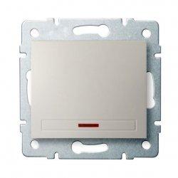 Łącznik jednobiegunowy z LED DOMO 01-1110-203 kr 24783