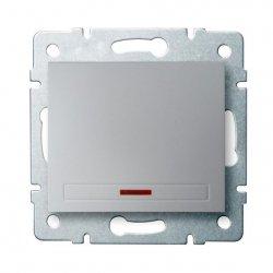Łącznik jednobiegunowy z LED DOMO 01-1110-243 sr 24842