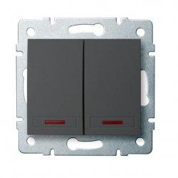 ??cznik zwierny podwójny LED DOMO 01-1023-241 gr 24893