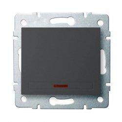 Łącznik jednobiegunowy z LED DOMO 01-1110-241 gr 24901