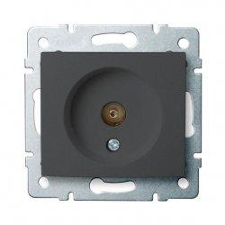 Gniazdo antenowe typu F przelotowe DOMO 01-1290-041 gr 24919