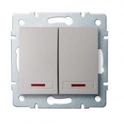 ??cznik zwierny podwójny LED DOMO 01-1023-230 pe 24952