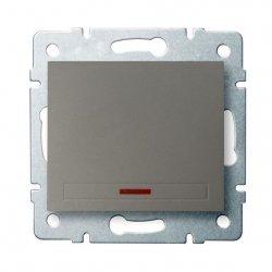 Łącznik jednobiegunowy z LED DOMO 01-1110-250 sz 25019
