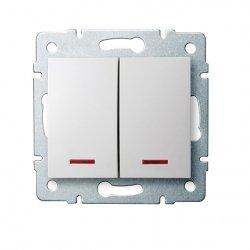 ??cznik zwierny podwójny LED LOGI 02-1023-102 bi 25070