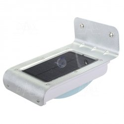 Lampa solarna SL-10P, czujnik ruchu PIR i panel PV, 16 LED light control