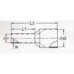 KR100012 R Tulejka izolow. 10,0mm2x12    100szt