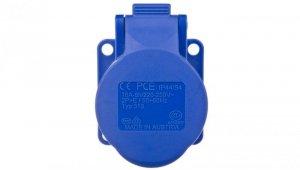 Gniazdo tablicowe 16A 3P 230V /75x75/ niebieskie IP44 313-6f5