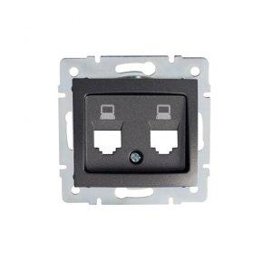 Adapter gniazda RJ45 DOMO 01-1419-041 gr 25933