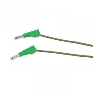PPS2-B100 Przewód pom. 2x banan bezp. 4mm, 1m, 20A CAT II 600V SILIKON zielony