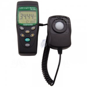 TM209 Luksomierz 0,01~400 000 lx ,MEM do diod LED TENMARS +  świadectwo wzorcowania