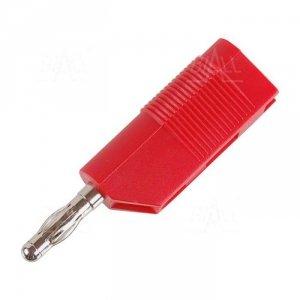 Wtyk banan 4mm do poł. wież. WW403-R 50V=/30V~ 24A czerwony