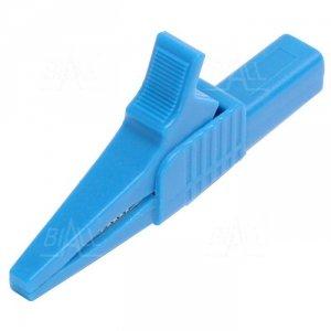 Krokodylek bezp. gn. 4mm KK262-BU CAT II 1000V 19A niebieski