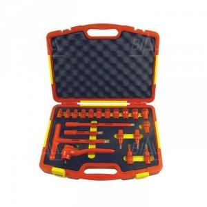 OPT ZKNI-2 Zestaw kluczy nasadowych 3/8 8-22 i imbusów 4-8 izolowanych 1000V FW w walizce