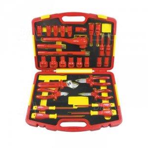 OPT ZKNI-1 Zestaw kluczy nasadowych 1/2 10-32 i narzędzi izolowanych 1000V w walizce