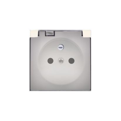 Pokrywa do gniazda wtyczkowego z uziemieniem - do wersji IP44- klapka w kolorze transparentnym kremowy