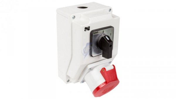Zestaw instalacyjny z gniazdem 32A 5P RS-Z (0-1) czerwony 6274-00