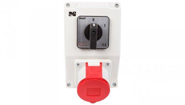 Zestaw instalacyjny z gniazdem 32A 4P RS-Z (0-1) czerwony 6280-00