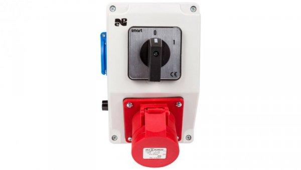Zestaw instalacyjny z gniazdem 16A 4P+2P+Z RS-Z (0-1) czerwony 6278-00