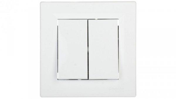 ASFORA Przycisk podwójny biały EPH1100121