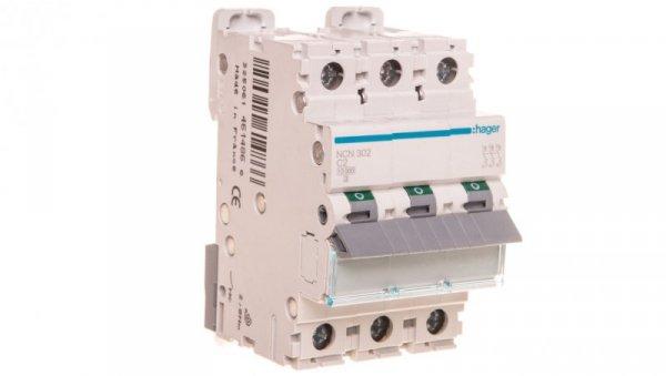 Wyłącznik nadprądowy 3P C 2A 10kA AC NCN302