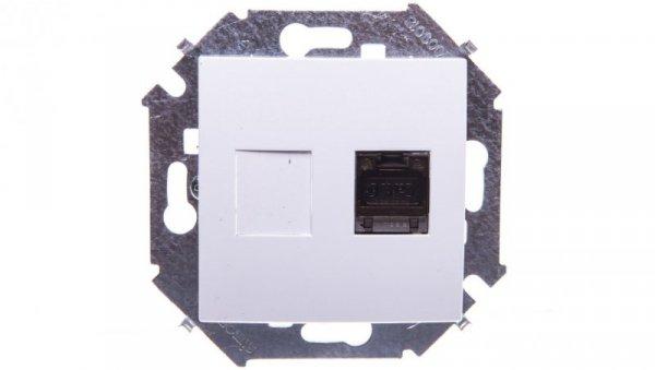 Simon 15 Gniazdo komputerowe pojedyncze RJ45 ekran. kat.6 z przesłoną przeciwkurz. białe 1591563-030
