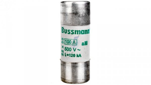 Wkładka cylindryczna CYLINDRICAL FUSE 22x58mm 100A AM 500V AC C22M100