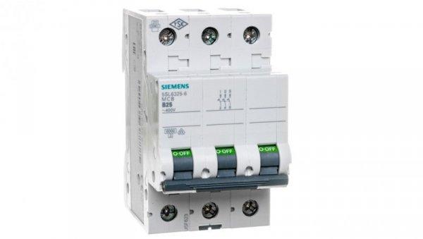 Wyłącznik nadprądowy 3P B 25A 6kA AC 5SL6325-6