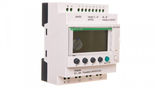 Sterownik Zelio 2 12we 4wy 24V AC RTC/LCD SR2B122BD