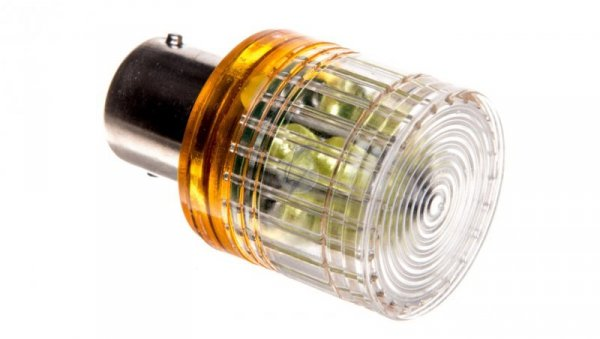 Dioda LED błyskająca Ba15s 24 VDC żółta T0-IKMF024S