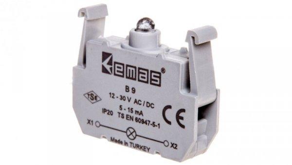 Element podświetlający zielony 12-30V AC/DC do przycisków B LED T0-B9