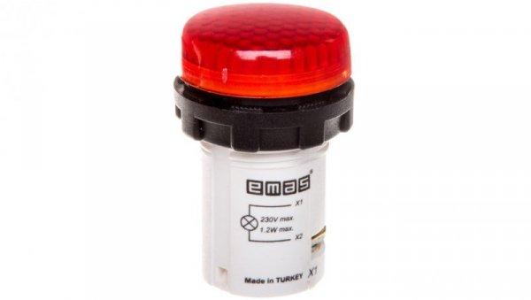 Lampka sygnalizacyjna 230V czerwona T0-MBSP220K