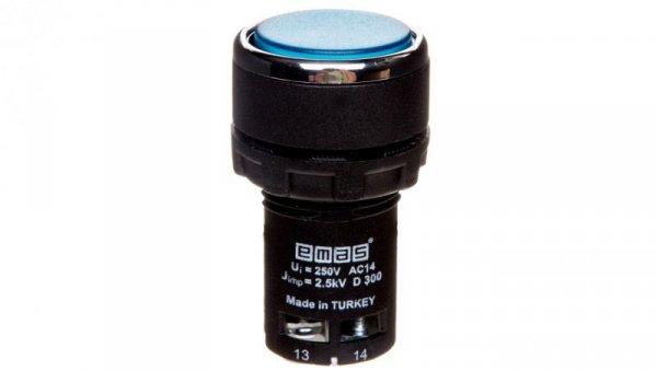 Przycisk sterowniczy monoblok niebieski T0-MB100DM