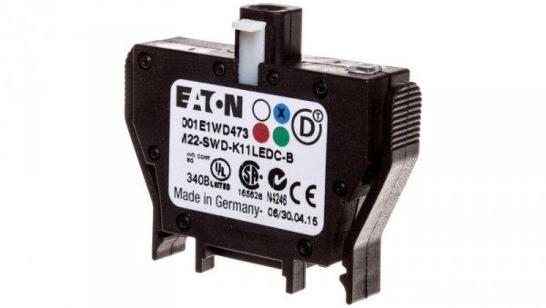 Styk pomocniczy 1P z diodą LED niebieską montaż czołowy SmartWire-DT 116004