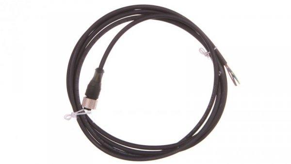 Złącze żeńskie M12 proste 4-pinowe kabel 2m PUR XZCP1169L2