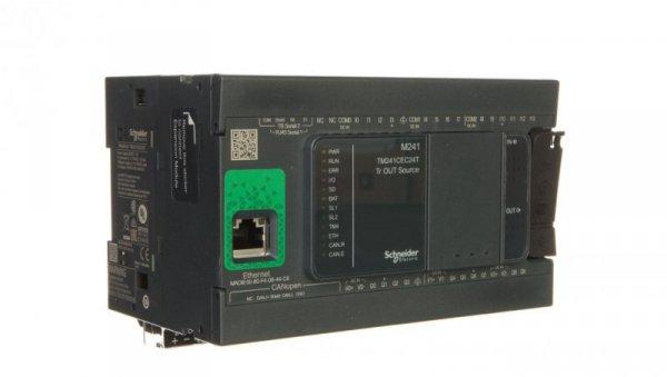 Sterownik programowalny 24I/O PNP tranzystorowe Ethernet/CANopen Modicon M241-24I/O TM241CEC24T