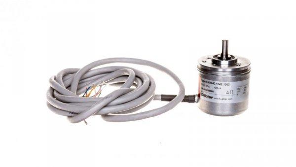 Enkoder inkrementalny wałek 6mm push-pull 10-30VDC przewód 2 metry rozdzielczość 1000 imp./obr. 8.KIS40.1342.1000