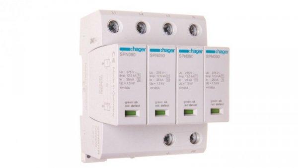 Ogranicznik przepięć B+C Typ 1+2 4P 12,5kA 275V 1,5kV ze stykiem sygnalizacyjnym SPN901R