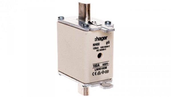 Wkładka bezpiecznikowa NH00 160A 500V gG LNH0160M