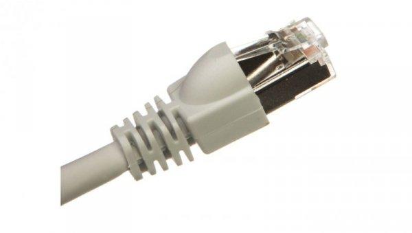 Kabel krosowy patchcord S/FTP kat.7 0,35m szary G8317