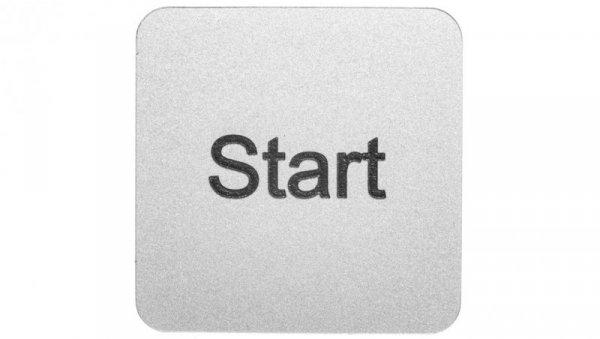 Etykieta opisowa samoprzylepna do kaset 22x22mm srebrna /START/ Sirius ACT 3SU1900-0AF81-0DT0