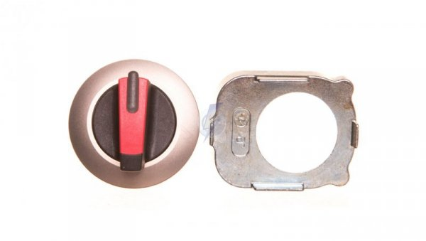 Napęd przełącznika 3 położeniowy I-O-II 30mm czerwony podświetlany z samopowrotu metal mat IP69k Sirius ACT 3SU1062-2DM20-0AA0