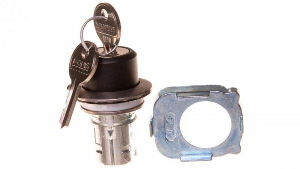 Napęd przełącznika 2 położeniowy O-I 30mm 2x klucz RONIS SB30 z samopowrotem metal mat IP69k Sirius ACT 3SU1060-4LC01-0AA0
