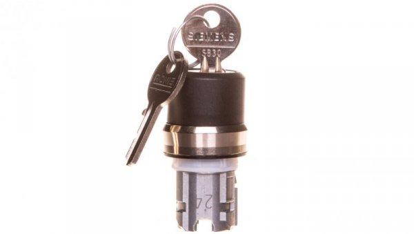 Napęd przełącznika 3 położeniowy I>O-II 22mm 2x klucz RONIS SB30 stabilny/niestabilny metal IP69k Sirius ACT 3SU1050-4BP61-0A