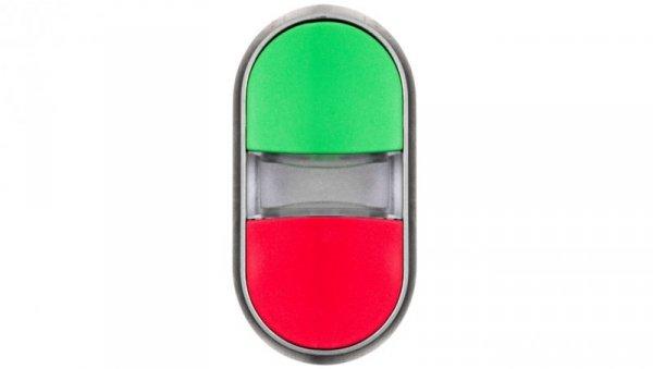 Napęd przycisku podwójnego 22mm zielony i czerwony plastikowy IP69k Sirius ACT 3SU1030-3AB42-0AA0