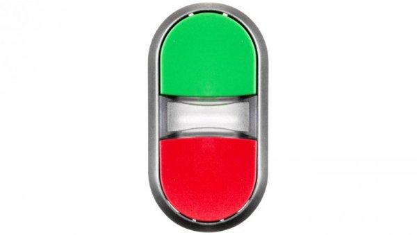Napęd przycisku podwójnego 22mm zielony i czerwony z podświetleniem plastikowy IP69k Sirius ACT 3SU1031-3AB42-0AA0