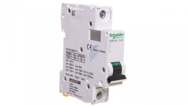 Wyłącznik nadprądowy 1P C 5A 6kA AC C60H A9N61505