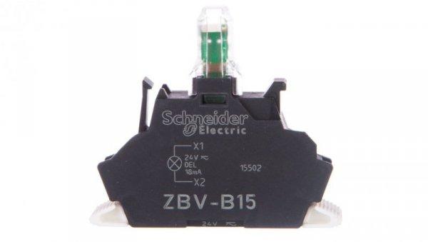 Oprawka z LED biała 24V AC/DC z łącznikiem ZBVB15